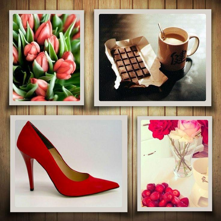 Woman red heels