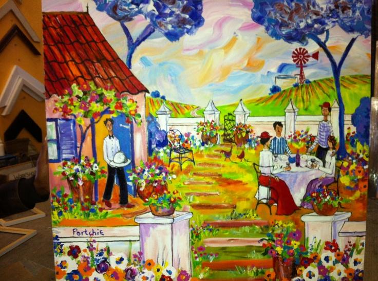 Portchie painting garden