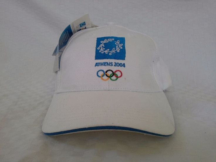 Athens 2004 Olympics Official Licensed Product White Blue Hat Cap with Tags   #HighQ #Cap