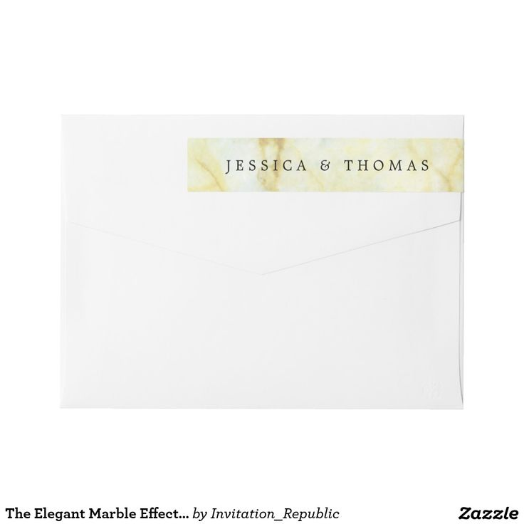 The Elegant Marble Effect Wedding Collection Wrap Around Label
