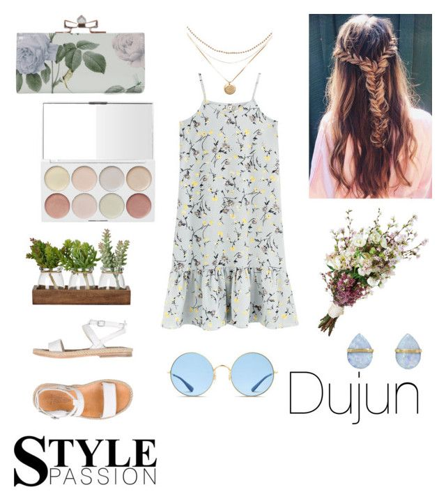 """Dujun"" by taeyan-park on Polyvore featuring n.d.c., Melissa Joy Manning and Ray-Ban"