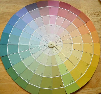 66 best crafts diy swatch paint ideas images on for Color wheel chart paint