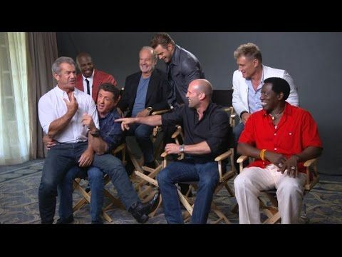 Sylvester Stallone, Cast Talk 'The Expendables 3' - YouTube