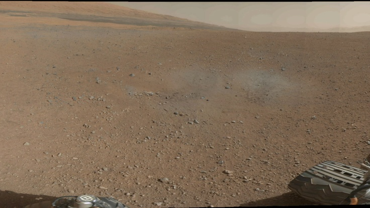 Curiosity Mars Rover - Mount Sharp From a Distance