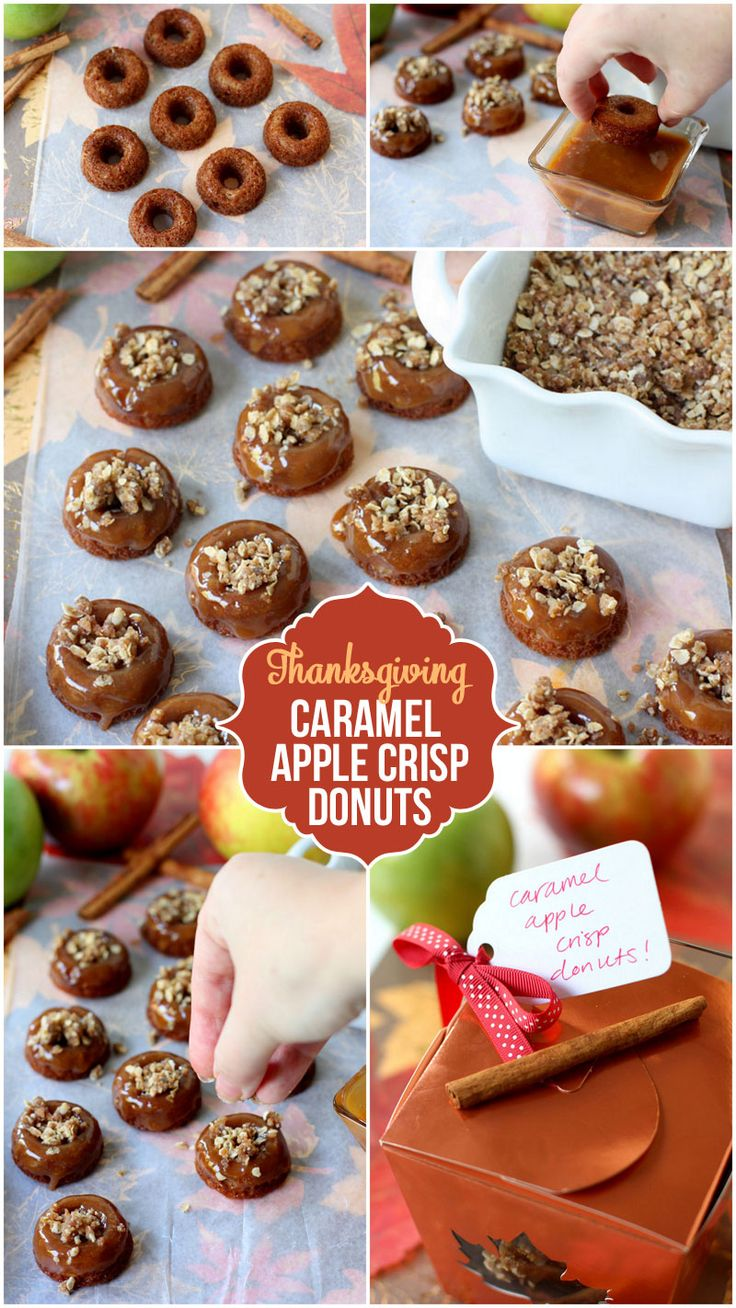 Mini Apple Crisp Donuts - perfect fall breakfast treat!