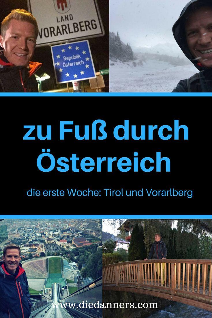 Österreich zu Fuß durchqueren - in vier Wochen. Florian Danner wandert vom westlichsten Ort bis zum östlichsten Ort Österreichs. Durch alle Bundesländer bei jedem Wetter, mit Blasen an den Füßen und erstaunlichen Begegnungen. Wie bereitet man sich auf diesen Trip vor? Die erste Woche ist geschafft, hinter ihm liegt Vorarlberg und ein Großteil Tirols. Alles erlebte erzählt er am Blog.