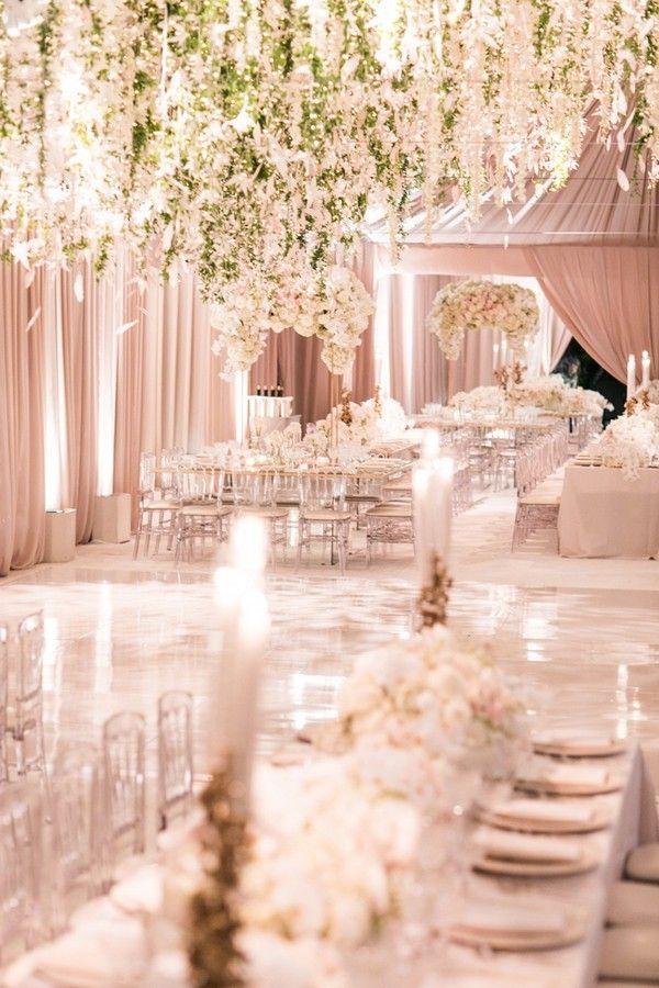 Trending 12 Fairytale Wedding Flower Ceiling Ideas For Your Big Day Oh Best Day Ever Wedding Inside Fairytale Wedding Decorations Romantic Theme Wedding
