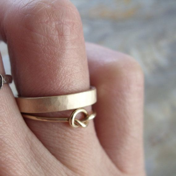 3mm Men's or Women's Rustic Hammered Gold Ring by brightsmith