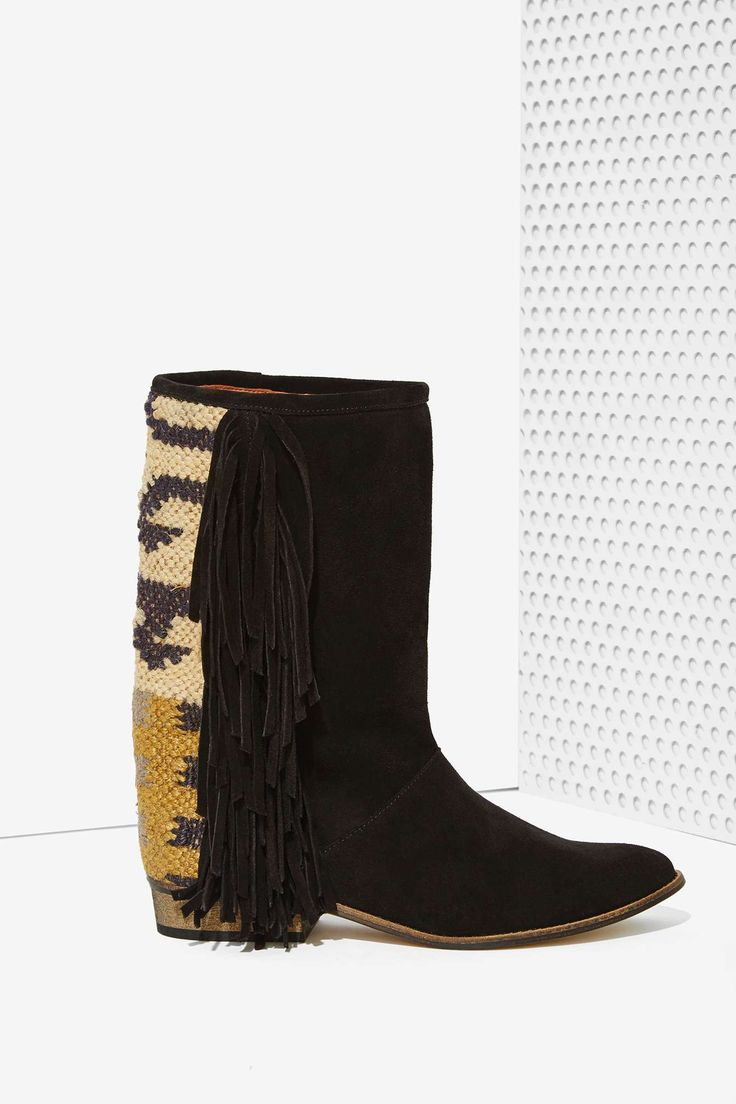Howsty Durie Fringe Suede Boots
