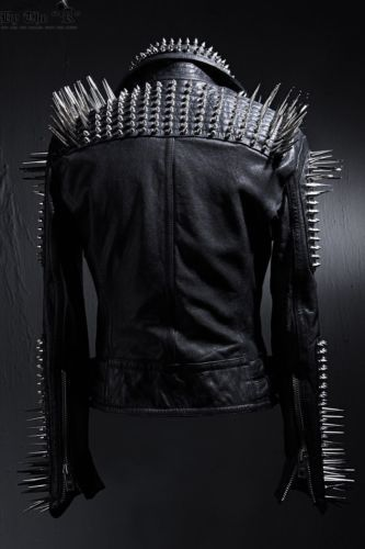 BytheR-Men-039-s-Masterpiece-Fashion-Glam-Unic-Stud-Black-Jacket-P000BFCX-CA