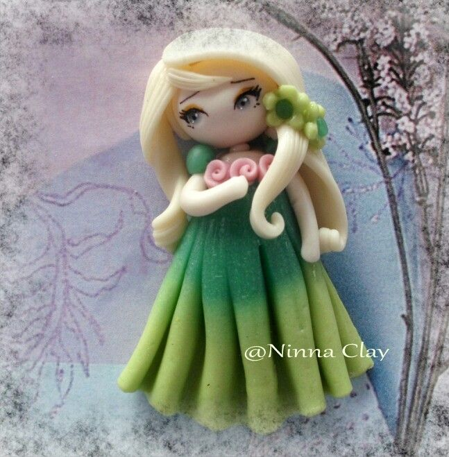 #coldporcelain #airdryclay #handmade #handmadeclay #princess #clay #claydoll #claydolls #homemade #elsa #frozen