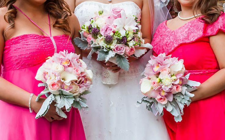 Modern rustic bouquets