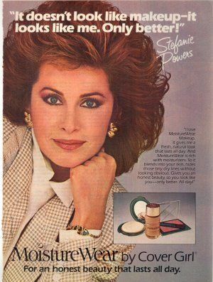 """Cover Girl foundation ad, 1984.  Proves the """"you but better"""" selling approach in makeup isn't new."""