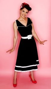 CLASSIC VINTAGE STYLE COUTURE, RETRO DRESS, Vintage clothing, 1940s, 1950s pinup.