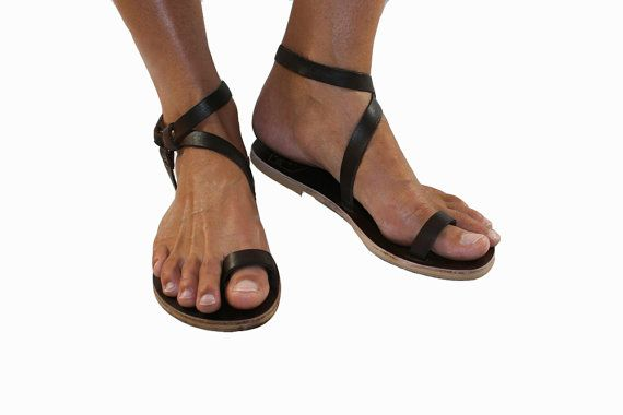 Brown Leather Sandals for Women & Men Design 3 by WalkaholicS, $80.00