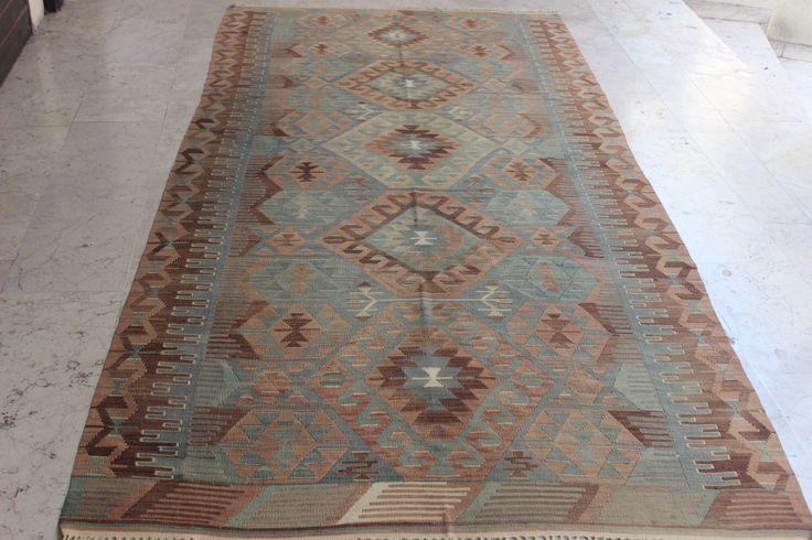 Turkish kilim rug ,Decorative kilim rug,Vintage kilim rug,Livingroom kilim,Floor kilim rug,Ethnic kilim rug,119 x 60 inches,302 x 150 cm by ntfarts on Etsy https://www.etsy.com/listing/250524607/turkish-kilim-rug-decorative-kilim
