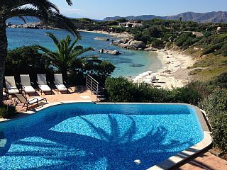 Amazing Beachfront Villa Directly Above Fine Sandy Beach And Crystal Clear Sea   Holiday Rental in Villasimius from @HomeAwayUK #holiday #rental #travel #homeaway