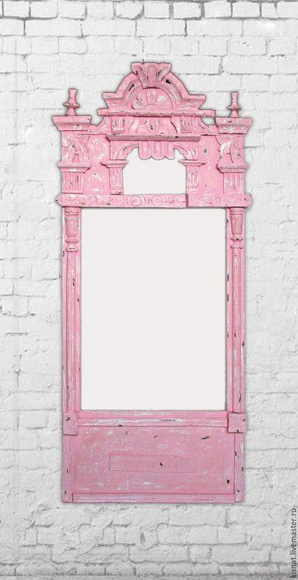 Wall mirror / Зеркала ручной работы. Заказать Зеркало в раме «Розовое № 4». Киселёва Наталья. Ярмарка Мастеров. Рама для зеркала, русский