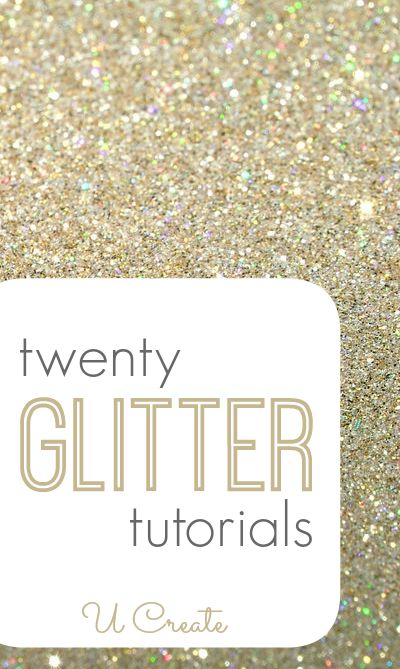 Gorgeous ways to create using GLITTER!