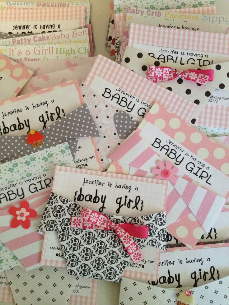 DIY Baby Shower Invites | Such a cute idea. So using it next time I have to make…