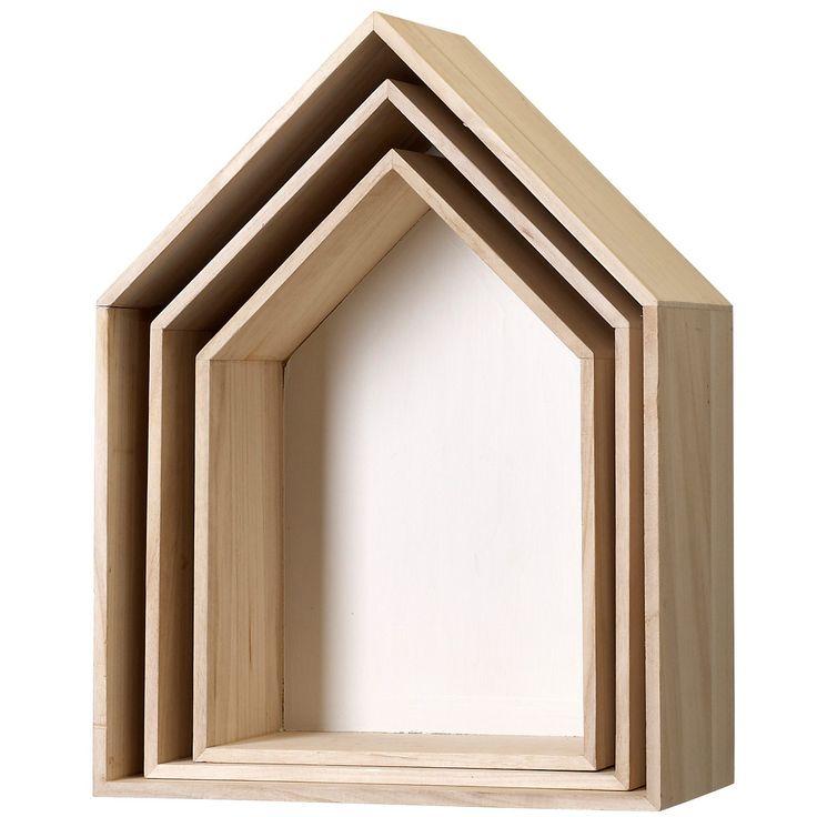 House box 3-pack, vit i gruppen Inredningsdetaljer / Småförvaring / Boxar & Askar hos RUM21.se (128694)