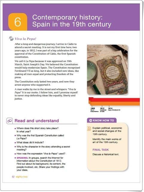 """Unidad 5 de Social Science de 6º de Primaria: """"Contemporary history: Spain in the 19th century"""""""