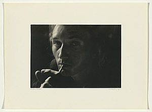 Carol JERREMS Esben Storm 1976  National Gallery of Australia Sydney, New South Wales, Australia Gelatin silver photograph printed image 17.8 h x 25.4 w cm  Gift of the Philip Morris Arts Grant 1982