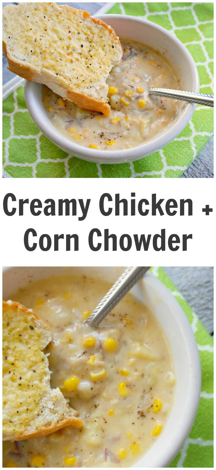 THE BEST ONE YET ~ Just like WAWA's! Easy Creamy Chicken And Corn Chowder Soup