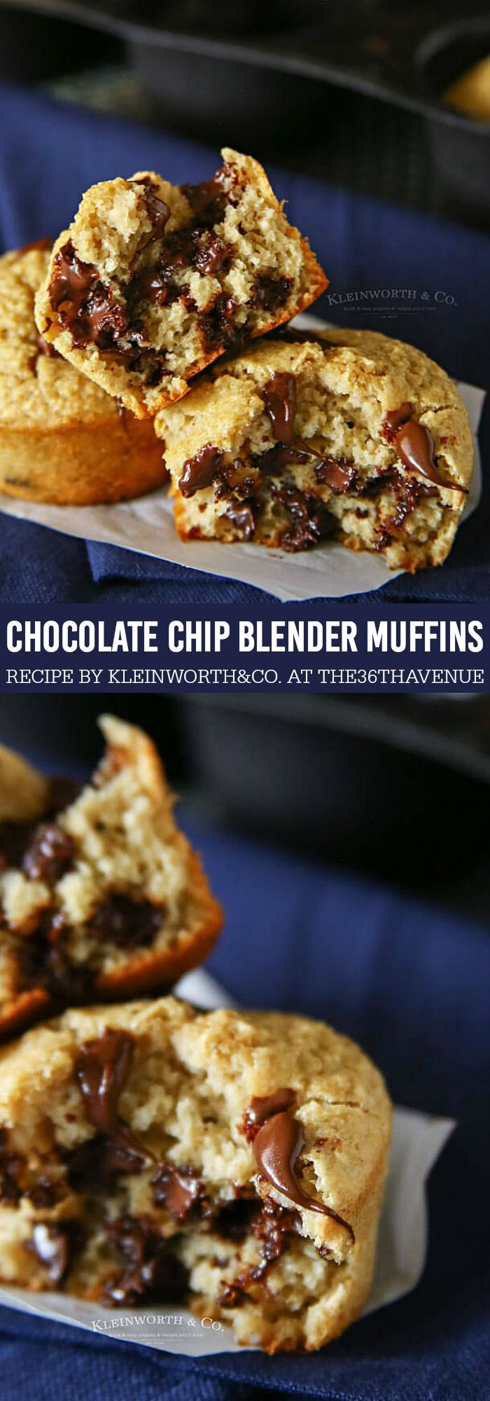 Muffin Recipe - Chocolate Chip Blender Muffins are perfect for breakfast or dessert