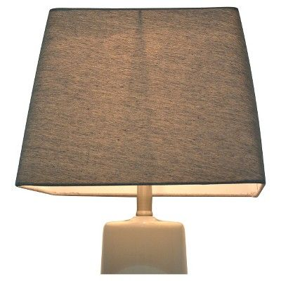 Soft Rounded Square Lamp Shade Large Gray - Threshold