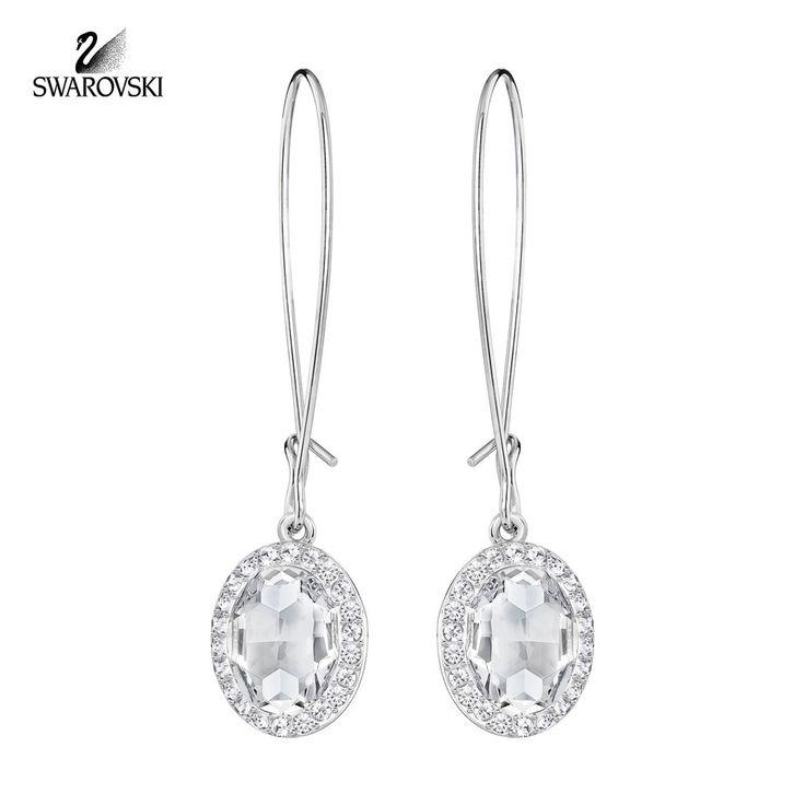 Swarovski Clear Crystal Drop Pierced Earrings CHRISTIE ...