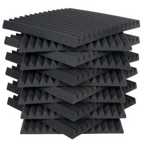 Auralex 2 ft. W x 2 ft. L x 2 in. H Studio Foam Wedge Panels - Charcoal (Half-Pack: 12 Panels per Box) 2SF22CHA-HP at The Home Depot - For soundproofing