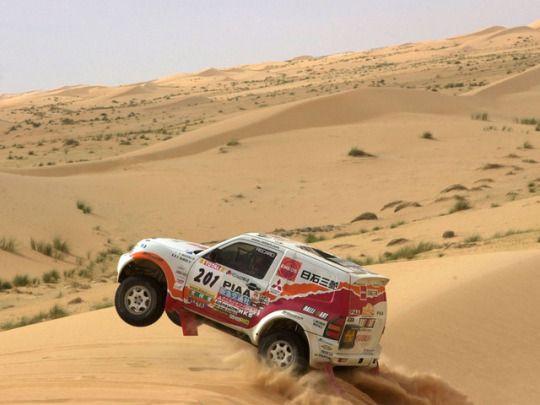 Mitsubishi Pajero rally raid car