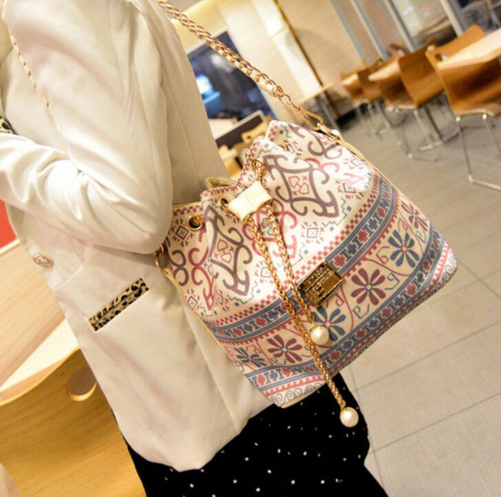 Dusun promoção da mulher bag chains moda balde saco de lona patchwork bolsa de ombro mulheres saco de marca mensageiro mulheres bolsa bolsas em Bolsas de Ombro de Mochilas & bagagem no AliExpress.com | Alibaba Group: