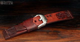 Curele de ceas, din piele, handmade. Topouzelli Straps.: Curea de ceas, T899