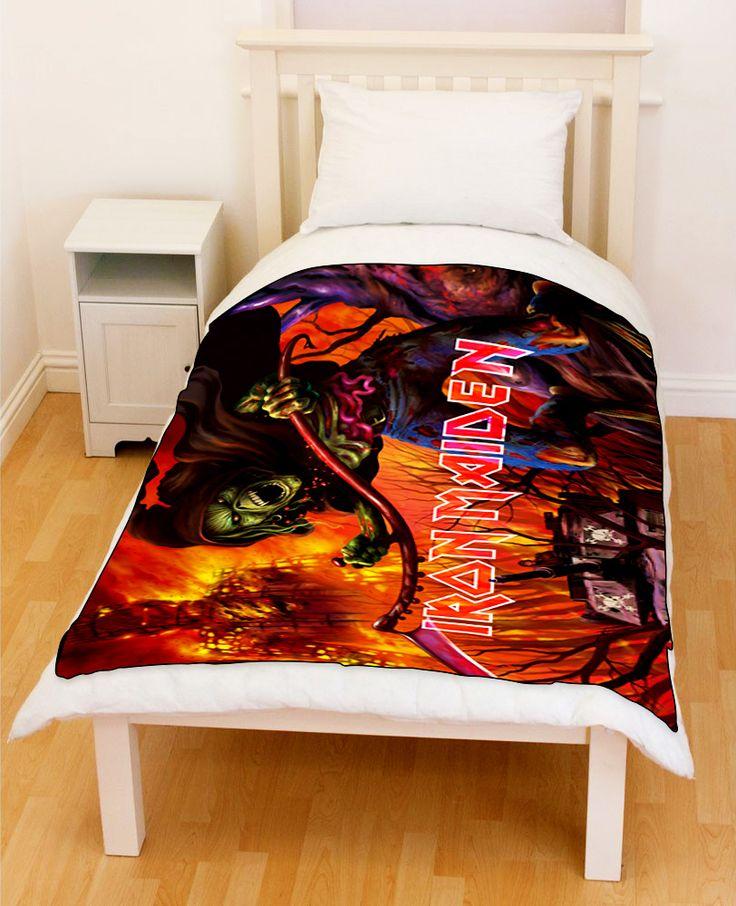 Iron Maiden Fleece Throw Blanket 001 // Price: $51.99  //     #specialdiscount