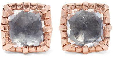 Larkspur & Hawk - Bella Rose Gold-dipped Quartz Earrings - one size
