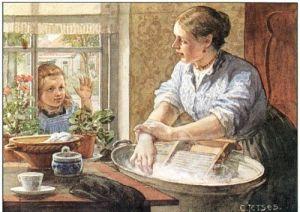 ot en sien: moeder aan de was/ wasbord & zinken teil