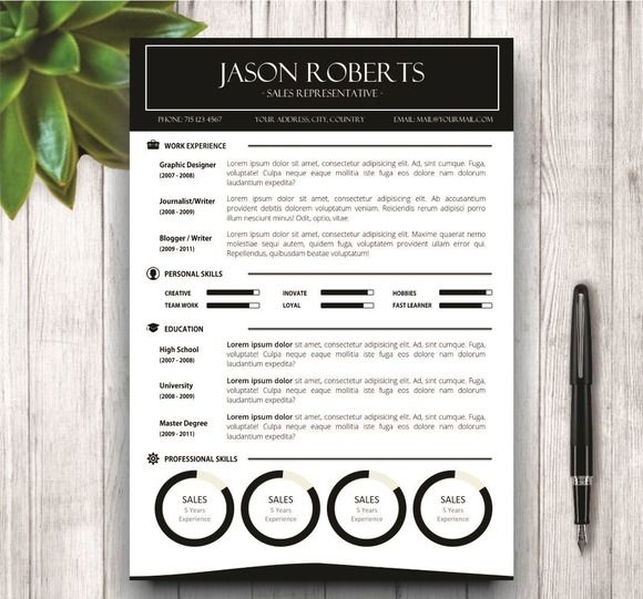 35 best cv    resume templates in ms word images on