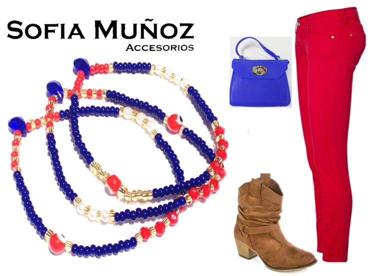 Look vaquero! Jeans + rojo= look total! Nos encanta la combinación! Úsalo con accesorios en tonos similares y acertaras 100%  #Pulseras #Moda #Outfits