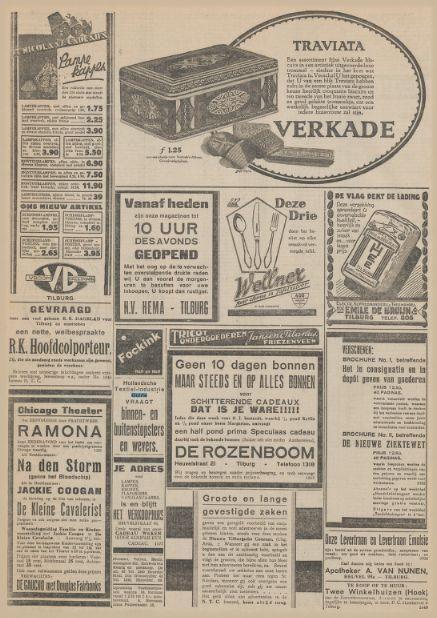 Personeelsadvertentie HTI Krantentitel: Nieuwe Tilburgsche Courant Datum, editie:25-11-1929