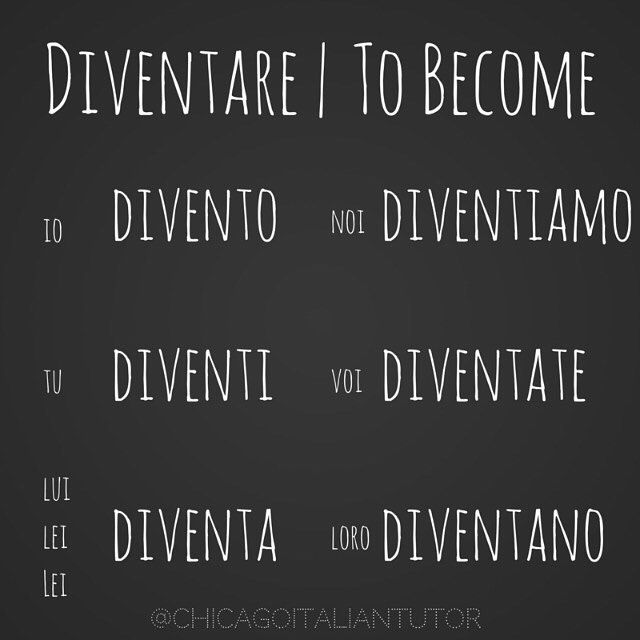 diventare | to become {day 42}  #diventare #tobecome #parliamoitaliano #impariamoitaliano #italia #travelitaly #speakitalian #studyitalian #learnitalian #italy #italiano #chicagoitalian #grammatica #vocabolario #100daysofverbs #verbchallenge #speakitalianeveryday  http://goo.gl/67jl8q
