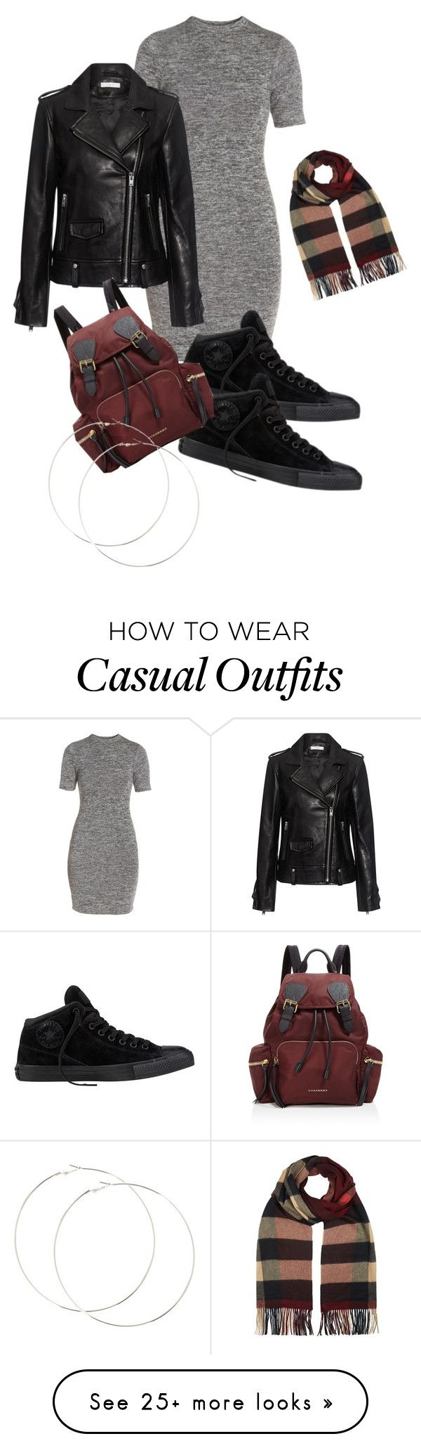 """""""Dress casual"""" by shaheraspearman9 on Polyvore featuring French Connection, IRO, Converse and Burberry"""