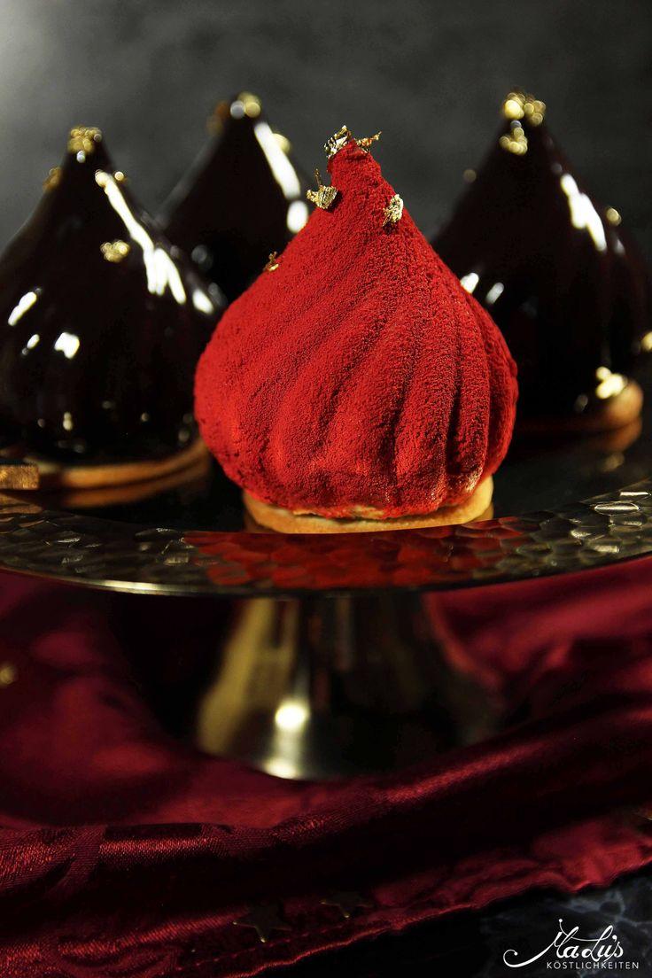 Festliche Karamell-Schokoladen Törtchen