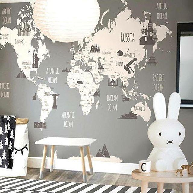 • see the world • • by @littlehandswallpaper • #kidsroom#kinderzimmer#kinderkamer#barnerom#barnrum#barnrumsinredning#barnrumsinspo#kiiidsinspiration#jungzimmer#børneværelse#babyzimmer#nusery#kids#kidsingram#childsroom#inspiration#nordic#style#inspration123#interior4all#color#blog#design#inspo#monochrome#love#blog#blogger#nordickidsliving