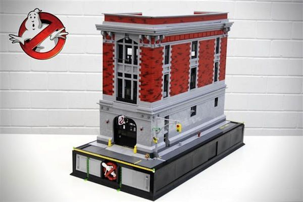 An superamazing LEGO Replica Of The 'Ghostbusters' Headquarters. See it on DesignTAXI.com