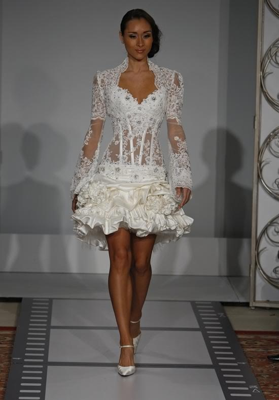 Nice Pnina Tornai Wele to my wedding reception dress def a lil longer and not see through haha love it