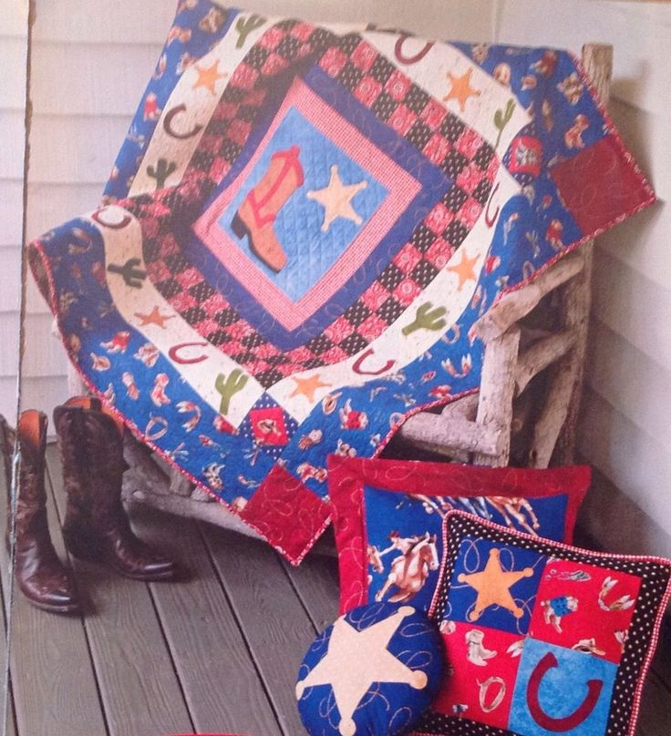 Rootin Tootin Cowboys  Quilt Pattern Pieced Applique