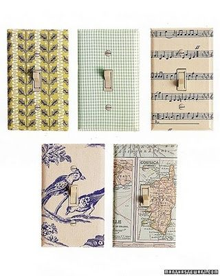 diy switch plate covers | diy switch plate covers: birds, maps, sheet music, how about book pgs?