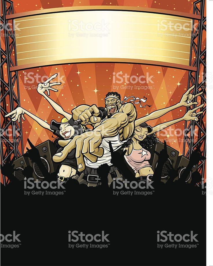 Rap Concert en plein air stock vecteur libres de droits libre de droits